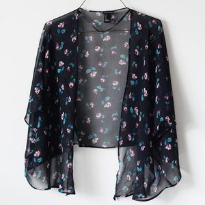 Forever 21 Cropped Floral Kimono